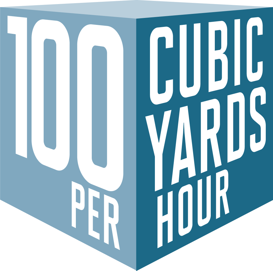 100 Cubic Yards Per Hour Cube