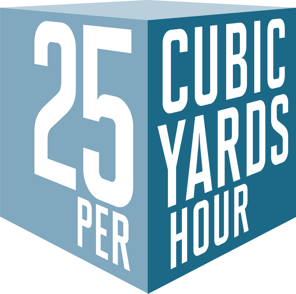 25 Cubic Yards Per Hour Cube